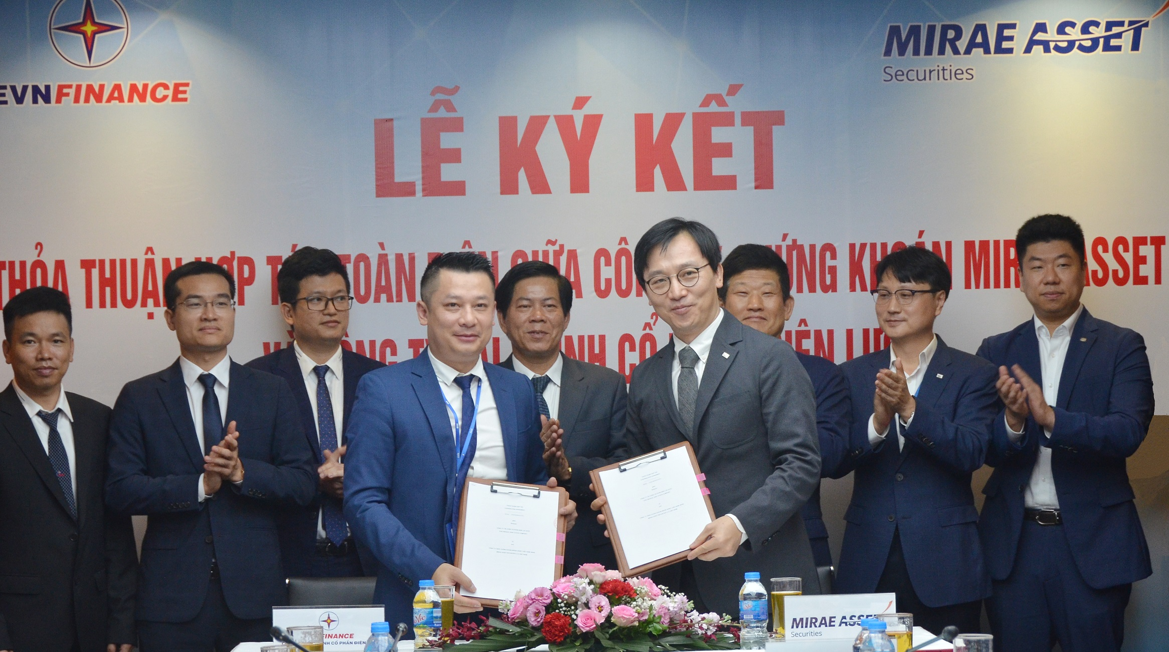 EVNFinance và Mirae Asset ký thỏa thuận hợp tác chung