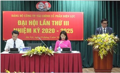 Công ty Tài chính Cổ phần Điện lực tổ chức thành công Đại hội Đảng bộ lần thứ III, nhiệm kỳ 2020 - 2
